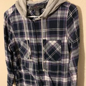 Tops - Button Down with Hoodie